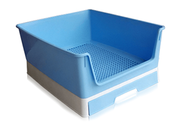 Training litter boxes with drawer