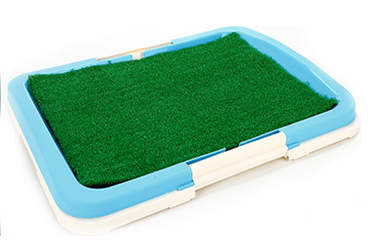 puppy pad holder with grass