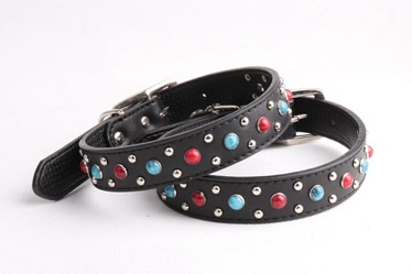 Colorful Durable Real leather dog collars