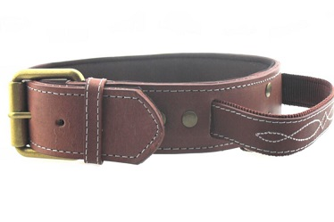 Heavy duty  real leather pet collars for medium large dog