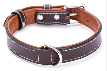 HOT- classical real leather dog collars/pet supply
