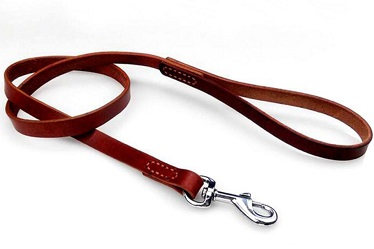 Real leather dog leash for large medium small dogs