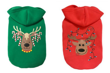 Classical pet Christmas hoodies/dog coat