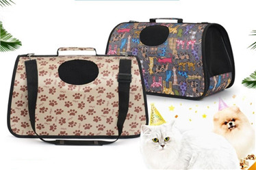 Black dot dog cat carrier/pet carrier products