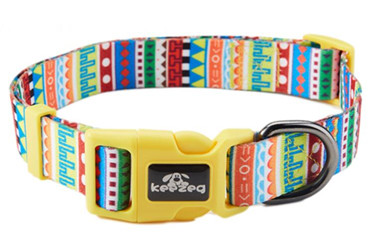 Colorful stripe dog collars/pet accessories