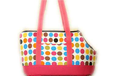 Colorful dots dog cat bag/pet carrier